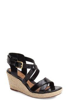 cc16763514f Söfft  Inez  Wedge Sandal (Women) Black Wedge Shoes