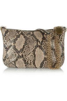 Laminated faux python shoulder bag by Stella McCartney