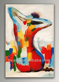 beautiful indian women back nude ,Colorful hand-painted on canvas abstract painting wholesale, home decorative wall art picture $5~$60