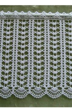 Best 12 Pirvan Corina's media content and analytics – SkillOfKing. Diy Crafts Knitting, Diy Crafts Crochet, Crochet Home, Crochet Projects, Filet Crochet, Crochet Lace Edging, Crochet Doilies, Crochet Curtain Pattern, Crochet Curtains