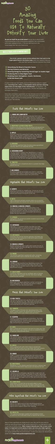 30 Foods That Naturally Detoxify Your Liver #Health #Infographic #SuperFoods #vitaminA #followback #vitaminD