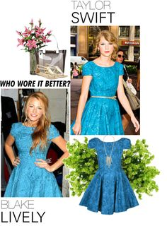"""""""Who Wore It Better: Taylor Swift or Blake Lively?"""" by leanne-928 ❤ liked on Polyvore"""