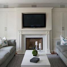 Fireplace Cabinets, Transitional, living room, Steffanie Gareau