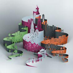 Los diseños en papel de Eiko Ojala