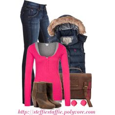 """""""Cozy Pink & Navy"""" by steffiestaffie on Polyvore"""