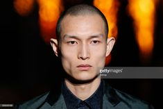 Headshot detail during the Hermes Menswear Fall/Winter 2018-2019 show as part of Paris Fashion Week on January 20, 2018 in Paris, France.