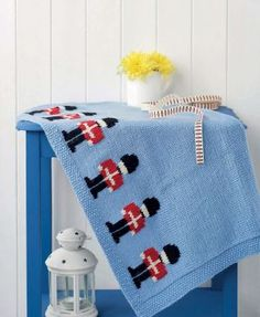 This gorgeous Little soldier blanket is available to download free on the Let's Knit website!