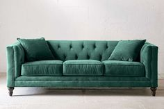 Graham Velvet Sofa in Pine at Urban Outfitters, $1,398Urban Outfitters is such a great resource for reasonably priced furnishings, like their Graham sofa. I love its classic silhouette and deep tufting.