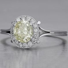 Miners-cut vintage engagement ring.
