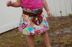 "Precious ""paper bag"" style toddler skirt."