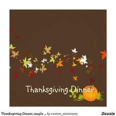 Thanksgiving Dinner, maple leaves/DIY background