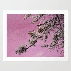 Blossom Pink Art Print by Ally Coxon