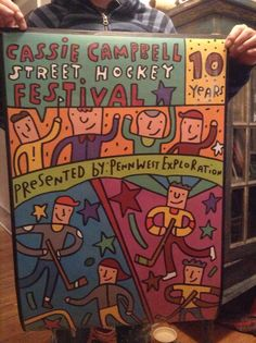 Cassie Campbell Street Hockey Festival poster. Calgary. Penn West.