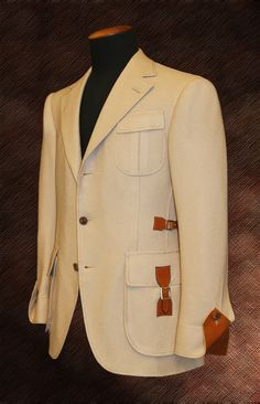 The Steed Coat by Cifonelli, Paris.I love this blazer wow. Mens Fashion Suits, Mens Suits, Designer Suits For Men, Safari Jacket, Casual Belt, Bespoke Tailoring, African Men Fashion, Well Dressed Men, Menswear