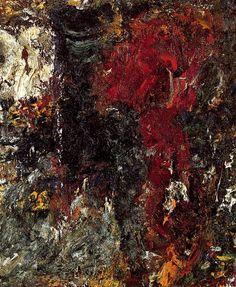 Fleur rouge, 1991, huile sur toile, 73x60 cm, Galerie Michael Werner