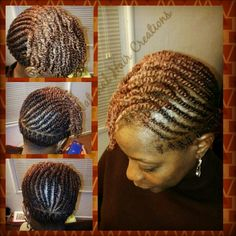 Protective style Flat twists style natural hair