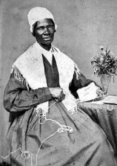 """Isabella Baumfree, self named """"Sojourner Truth""""  was a many times sold slave. When she fell in love with a neighboring slave that man was beaten and never heard of again. She bore his son and had four other children by a man she was forced to marry.   She escaped with an infant daughter, having to leave behind the four other children.  Later she went to court to win freedom for one of her sons.  She was the first black woman to win in court over a white man."""