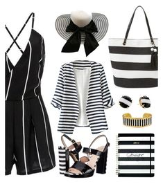 """""""In Living Stripes"""" by gemique ❤ liked on Polyvore featuring Kate Spade, Évocateur, Shiraleah and WithChic"""