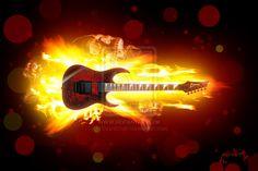 Guitarra en llamas..!!!