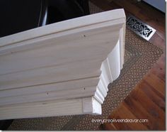 Every Creative Endeavor: Painted Wooden Valance {Tutorial}