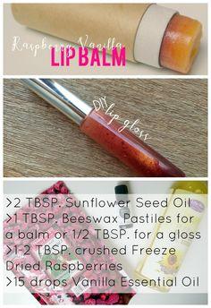 DIY Raspberry Vanilla Lip Balm & Gloss