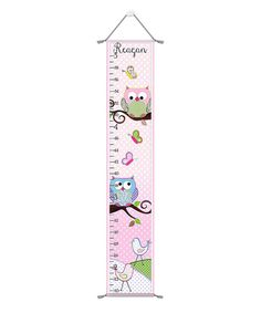 Loving this Pastel Owl & Branch Personalized Growth Chart on #zulily! #zulilyfinds
