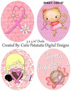 DIY Printable Breast cancer awareness 2'  by BottleCapImagesCass, $1.44 Breast Cancer Awareness, Ephemera, Teddy Bear, Printables, Unique Jewelry, Handmade Gifts, Create, Toys, Children