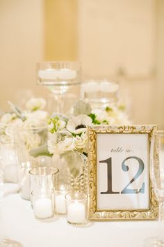 #table-numbers  Photography: Candice Benjamin Photography - candicebenjamin.com  Read More: http://www.stylemepretty.com/california-weddings/2014/12/30/classic-navy-white-santa-barbara-wedding/