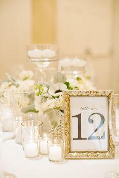 #table-numbers  Photography: Candice Benjamin Photography - candicebenjamin.com  Read More: http://www.stylemepretty.com/california-weddings/2014/12/30/classic-navy-white-santa-barbara-wedding/