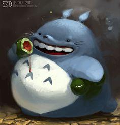 Totoro fanart by Le Thu, via Behance