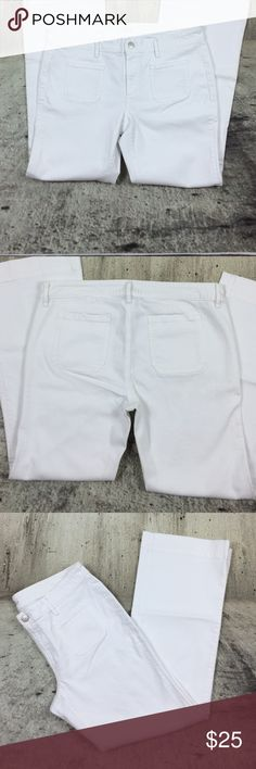"Loft denim super flare Loft denim super flare cotton and elastine blend inseam 32"" rise 9.5"" LOFT Jeans Flare & Wide Leg"