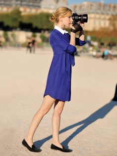 collared dresses + loafers