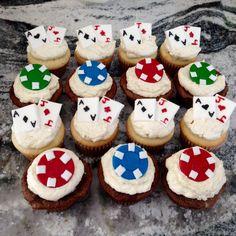 Blackjack Cupcakes, Mens Birthday, Poker Birthday, Black jack
