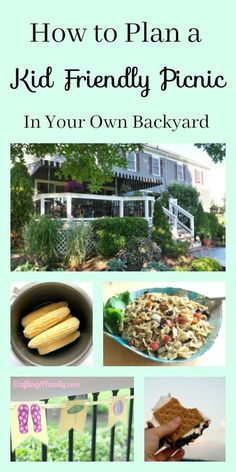 Plan a kid friendly picnic in your own backyard, Chicken Pasta Salad, Corn On the Cob (Electric Pressure Cooker Recipe), Fun Picnic Activities, free mini E-Book for the whole plan.