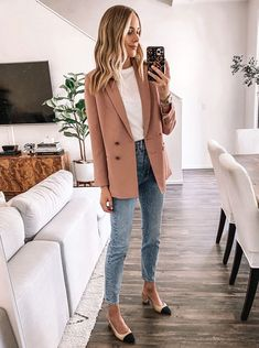 Spring Work Outfits, Casual Work Outfits, Mode Outfits, Work Casual, Fall Outfits, Stylish Outfits, Women Work Outfits, Work Attire Women, 30 Outfits