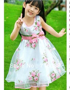 Cotton Casual Sleeveless Flower Dress Tulle Princess Dresses For Girls Kids Clothes Children's Dresses Vestidos Infantis Little Girl Dresses, Girls Dresses, Summer Dresses, Party Dresses, Fashion Kids, Fall Fashion, Fashion Trends, Flower Girls, Kids Outfits Girls