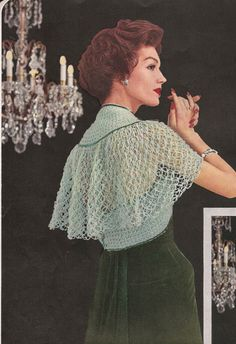 1957 Knit and Crochet Capes and Stoles PDF by betrunkepenguin