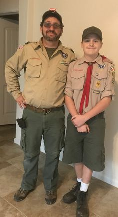 Jerry & Trey just home from Boy Scout camp out. New Braunfels. 3/2/18