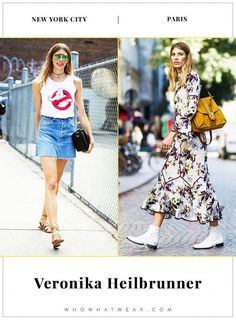 How Veronika Heilbrunner dresses in New York and Paris... - Street Style
