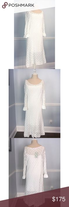 Lilly Pulitzer Nolia Maxi Beach Dress Lilly Pulitzer Nolia Maxi Beach Dress  Size: XL Color: Resort White  • New with tags.  • Saw no damage or defects and is in new condition.  • The top layer is knit and see through and the layer under that is like a tank top dress.  • My mannequin doesn't do the dress justice.  🔥Make an offer🔥 Lilly Pulitzer Dresses Long Sleeve