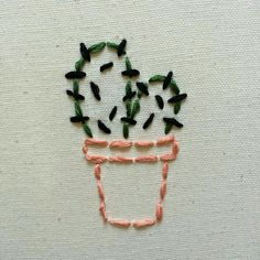"""""""lil cactus embroidery I did today while listening to talking head., vangoghkid: """"lil cactus embroidery I did today while listening to talking head., vangoghkid: """"lil cactus embroidery I did today while listening to talking head. Diy Embroidery Shirt, Cactus Embroidery, Hand Embroidery Stitches, Hand Embroidery Designs, Embroidery Art, Cross Stitch Embroidery, Embroidered Cactus, Ribbon Embroidery, Tumblr Embroidery"""