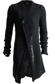 THOM KROM LONG OPEN KNIT CARDIGAN