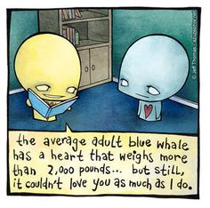big hearts - whales - love - emo - cartoon