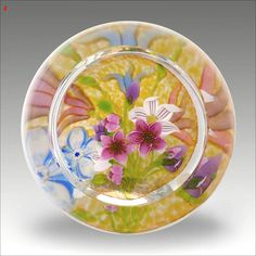 Superb Harry McKay 1 of 1 Bouquet glass paperweight Sold £376