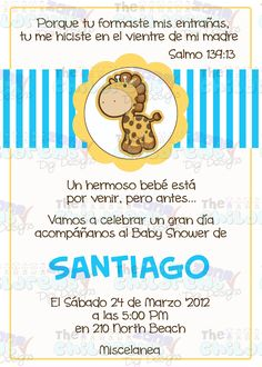 The Childrens Zone Digi Designs: Invitaciones para Baby Shower