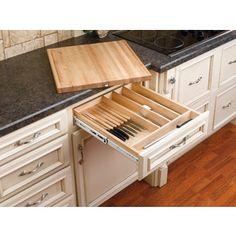 Rev-A-Shelf 22.25-In X 14.5-In Wood Cutlery Insert Drawer Organizer 4K