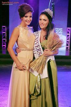Xhaneta Byberi Crowned Miss Universe Albania 2014 - Beauty Pageant News Miss Universe 2014, Beauty Pageant, Bridesmaid Dresses, Wedding Dresses, Albania, Beauty Queens, Sari, Crown, News