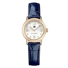 da0a559e43c Shop for Tommy Hilfiger Women s  Rose  Crystal Blue Leather Watch - Silver.