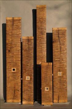 Colonnes chêne marron 70 à 180 cm Benoît Averly