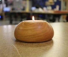 Tea Light Candle Holder on a Wood Lathe